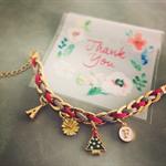 "Christmas Bracelet ( with letter ""F"" )"